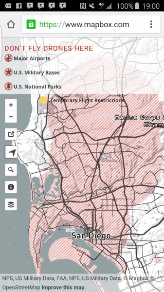 Warning No Fly Zone YuneecForumcom Q Typhoon And - Us no fly zones map
